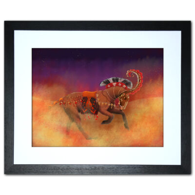 scythian horse armour framed print